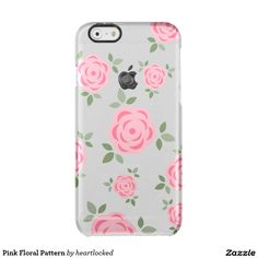 Pink Floral Pattern Uncommon Clearly™ Deflector iPhone 6 Case