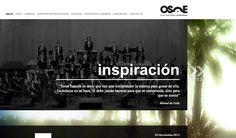 Página de inicio de la web de la Orquesta Sinfónica Ciudad de Elche, para la temporada 2012-2013