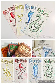 Harry Potter house bookmarks