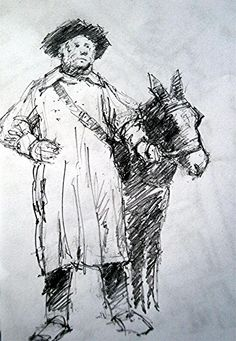 'The Donkey man' Higher Brixham by Peter Archer. The Donkey, Archer, Cow, Saints, Mary, Sterling Archer, Cattle