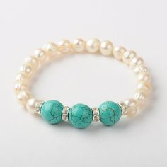 Turquoise and Pearls - lovely combination