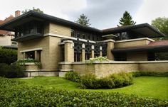 Frank Lloyd Wright house in Grand Rapids