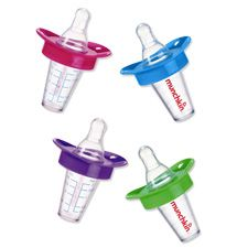 BPA-free, The Medicator from Munchkin was designed by a pediatrician and serves baby liquid medicine in the bottle shape she's used to. Plus, the spout bypasses baby's taste buds, so she'll be less likely to squirm. About $3, Munchkin.com for stores