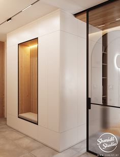 Project Warm | Minsk, Belarus on Behance Modern Luxury Bathroom, Modern Bathroom Design, Small House Interior Design, Modern House Design, Armoire, Kitchen Design Open, House Doors, Laundry Room Design, Loft Design