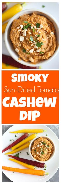 Dairy-free, vegan, Paleo Smoky Sun-Dried Tomato Cashew Dip recipe--this is a great healthy appetizer perfect for your next party
