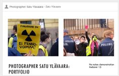 Travelling with camera obscura: No nukes demo Hki 15
