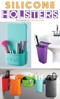 Listotic's 21 Totally Appropriate Silicone Inventions to make your life easier! Hot Iron Holster and Lil' Holster Organizational Products