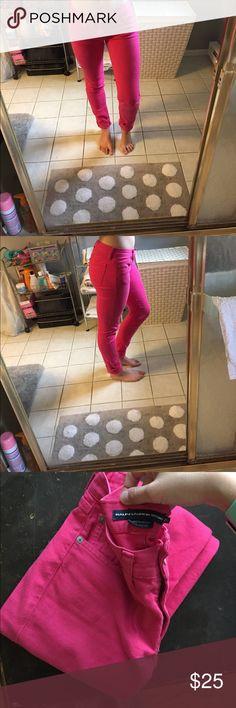 Ralph Lauren pink jeans worn twice, really nice quality Ralph Lauren Pants Straight Leg