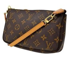 Louis Vuitton Signature Pochette Crossbody Leather Canvas Monogram Brown Tote Bag. Get one of the hottest styles of the season! The Louis Vuitton Signature Pochette Crossbody Leather Canvas Monogram Brown Tote Bag is a top 10 member favorite on Tradesy. Save on yours before they're sold out!