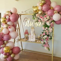 100 DAYS CELEBRATION • OLIVIA • GOLD CAKE SWING @luxecoutureevents 🤗 @boutiqueballoonsmelbourne Such a cute setup we styled for Olivia's mum to celebrate her daughters 100Days . Props Florals Styling @luxecoutureevents Incredible balloon display @boutiqueballoonsmelbourne Signage @oandsevents#100days #celebration #baby #babygirl #christeninggoals #eventplanner #gorgeous #princess #prophiremelbourne #family #twinkle #eventplanning #prophire Balloon Display, Balloon Backdrop, Balloon Decorations, Birthday Decorations, Baby Shower Decorations, Wedding Decorations, Baby Shower Balloons, Birthday Balloons, Grandma Birthday Cakes