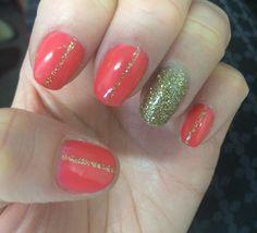 Coral nails Coral Nails, My Nails, Beauty, Beauty Illustration