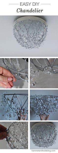 DIY Chandelier | http://www.hammerandheelsblog.com/diy-chandelier/