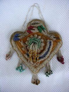 Kanien'kehaka (Mohawk) Nation Heart Pincushion.