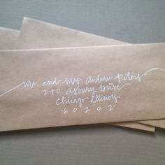 Custom Calligraphy Wedding or Save the Date Envelope Hand Addressing Hand Lettering.