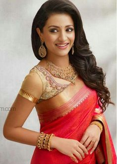 #Trisha...  Love the #saree, would use a different blouse though