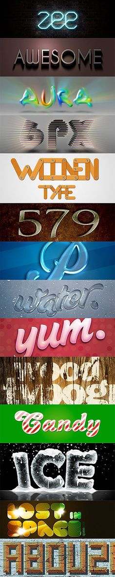 Create awesome #typography designs of your own with these amazing #photoshop text effects