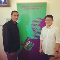 Andrew and Eck Kheng at the 2014 launch of the Speak Good English Movement #grammarrules