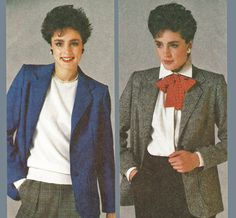 Misses and Womens Classic Blazer Jacket Pattern in Wool or Corduroy by TheOldLeaf. $5.99