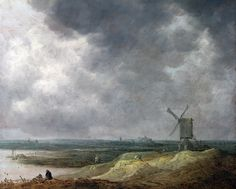 Jan van Goyen : Windmill by a River (The National Gallery, London) 1596-1656 ヤン・ファン・ホーイェン