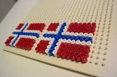 Bilderesultat for pynt Hama Beads Patterns, Beading Patterns, 17. Mai, Holidays And Events, Barn, Diy, Spring, Pearls, First Class