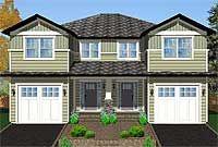 Side-By-Side Craftsman Duplex House Plan #duplexandapartmentplans