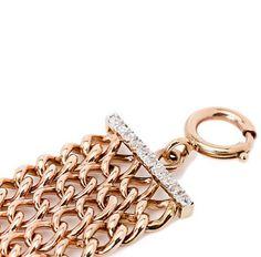Turner & Tatler English Curb Link Bracelet with Diamond Bars Wn6rjGJv0