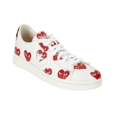 Trendy Womens Sneakers : Play By Comme des Garçons heart-print low-top sneakers