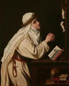 Cristofano Allori (Firenze 1577- 1621, figlio di Alessandro Allori) - Santa Caterina da Siena