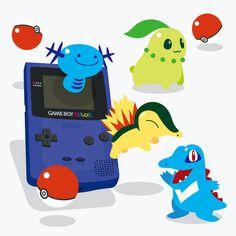 Pokémon, Game Boy Color artwork by Eruaru.