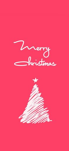 Originality pink of MerryChristmas of brief strokes christmas tree Wallpapers for iPhone X, iPhone XS and iPhone XS Max - Free Wallpaper | Download Free Wallpapers