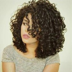 Curly Hair Ponytail, Braided Prom Hair, Curly Hair With Bangs, Curly Bob Hairstyles, Short Curly Hair, Ponytail Hairstyles, Shoulder Length Curly Hairstyles, Medium Curly Bob, Teenage Hairstyles