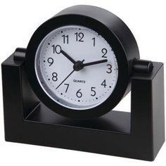 TimeKeeper TK6851 4 inch Swivel Desktop Clock, Black