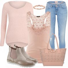 Not crazy about the jeans, but love the sleeveless top. The sweater & the boots are nice too.