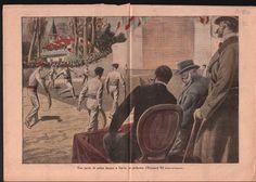 Pelote Basque pelota à Sarre Edward VIII of England France 1910 ILLUSTRATION | eBay