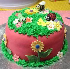 garden theme cake - via @Craftsy