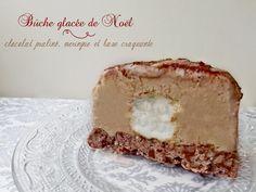 Bûche glacée de Noël pralinée (sans sorbetière)
