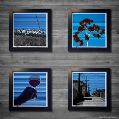 """Gallery: Go & Pop series (top left to right) """"Honor Labors"""" and """"Summer at Balboa Park"""" (bottom left to right) """"Cheers"""" and """"The Alley"""" (2015) 12 x 12 inch. Digital art - Giclee print on enhanced matte paper with glass framed. Stain black, 14 x 14 inch. Signed by Jon Savage -------------------------- #art #artist #popart #popartist #digitalart #contemporary #contemporaryart #cmyk #classic  #nyc #sandiego #california #blue #bluesky #jonsavagegallery"""