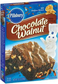 Pillsbury Chocolate Walnut Brownie Mix 135Ounce Boxes Pack of 12 -- Click image for more details.