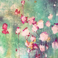 ...abstract art by sonja blaess...petit jardin...2017...