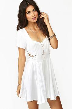 Love Drug Dress in White