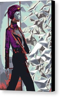 Fashion Model, contemporary decor, canvas print, for sale in Fine Arts America art photography, by mallorcacolors, art print for sale in Fine Arts America, colorful, pastel colors, blue and red, the streets of Mallorca as source of inspiration, digitally treated, fine art photography