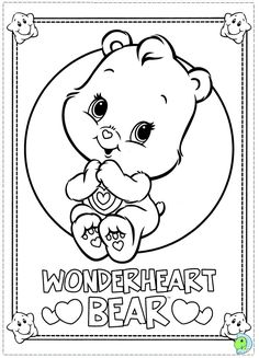 Care Bears Coloring Page DinoKidsorg