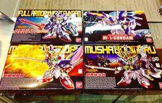 A pedido de muchos les dejamos los Gundam SD que aparecían en el fondo de la publicación anterior.  Hi-Nu Gundam Musha Victory Musha Godmaru y Fullarmor Knight Gundam  Si eres de regiones y deseas algún producto que no este en nuestro catalogo puedes pedirlo directamente por MP