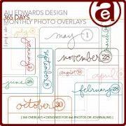 365 Days Photo and Journal Overlays - Ali Edwards