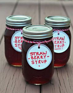 How to make strawberry syrup: a great thing to have on hand for cocktails, homemade strawberry milk or ice cream sodas, baking or just pouring on your breakfast pancakes. Easy DIY recipe.