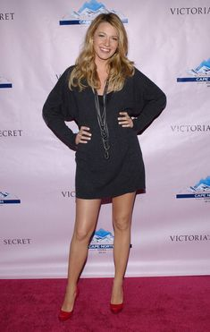 Blake Lively At Victoria's Secret Super Bowl Party