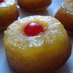 mini pineapple upside down cakes... why didn't I think of that?