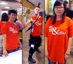 Here are the Cos & Effect shirts we made in action!