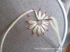 끝물들인 꽃잎... 수는 놓았는데 마