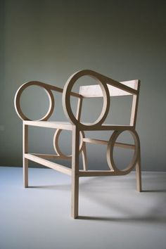 Circle Arm Chair & Ottoman by Christopher Kurtz | From a unique collection of antique and modern armchairs at http://www.1stdibs.com/furniture/seating/armchairs/